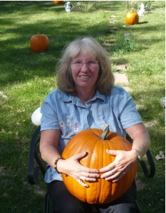 Claudette with Pumpkin